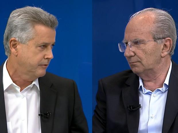Rodrigo Rollemberg e Jofran Frejat se enfrentam no segundo turno (Foto: TV Globo/Reprodução)