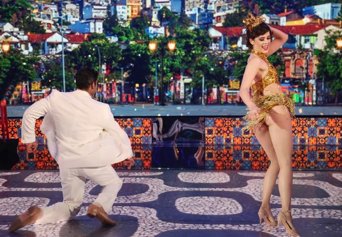 Sophia Abrahão fez bonito no ritmo do samba (Foto: Carol Caminha/ Gshow)