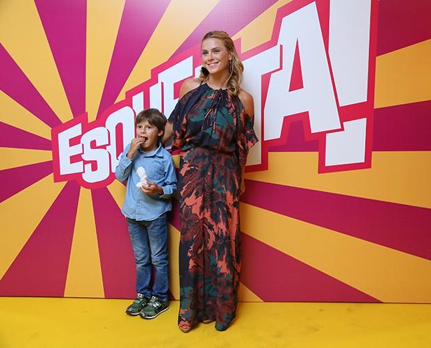 Carolina Dieckmann e o filho (Foto: Isabella Pinheiro/Gshow)