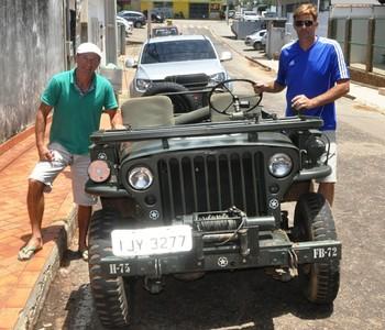 Francimar Baldissarelli e Geraldo Röhsig fecham expedição no Acre (Foto: Duaine Rodrigues)