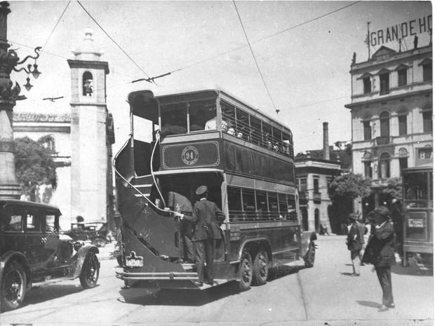 Chope Duplo no Largo da Lapa, em 1928 (Foto: Acervo Light/ Divulgação)