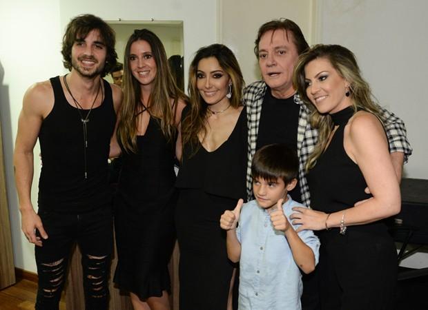 Krizia, Fiuk, Tainá, Fábio Jr., Záion e Maria Fernanda (Foto: Francisco Cepeda/AgNews)