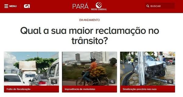 Enquete Liberal Comunidade- trânsito  (Foto: Reprodução/G1Pará)