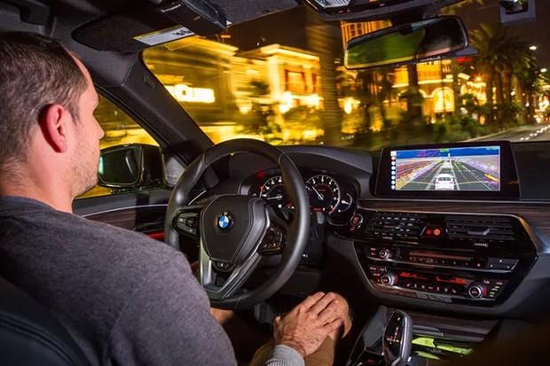 BMW Série 5 Aptiv-Lyft  (Foto: divulgação)