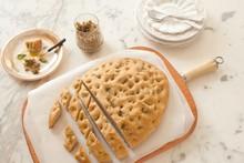 'Cozinha Prática' - Focaccia integral com alecrim