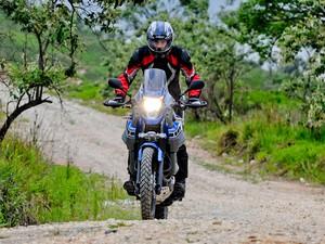 Yamaha XT 660Z pode rodar por terra e asfalto (Foto: Raul Zito/ G1)