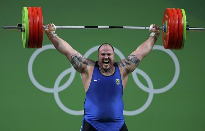 Fernando Reis treino levantamento de peso Rio 2016 (Foto: Reuters)