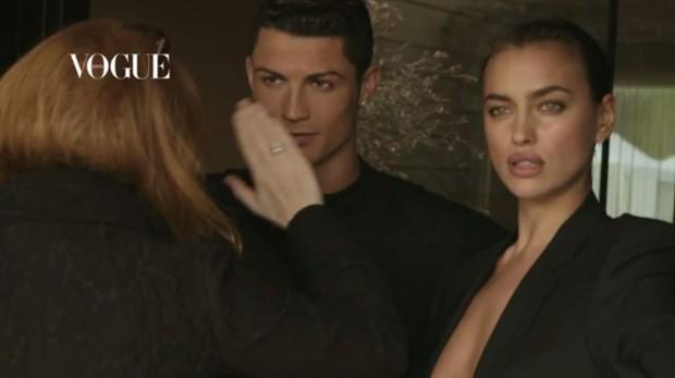 Cristiano Ronaldo e Irina Shayk (Foto: Video/Reprodução)