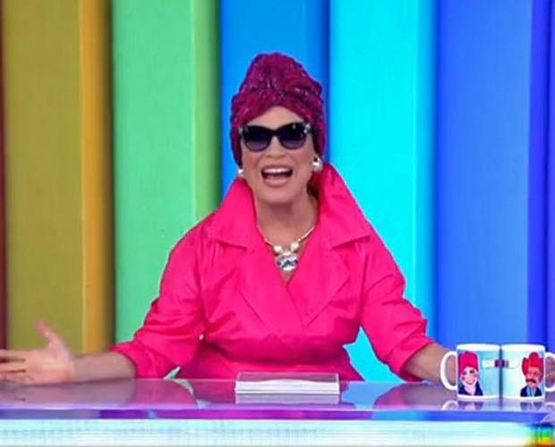 Regina Duarte na pele de Viúva Porcina (Foto: Vídeo Show/TV Globo)