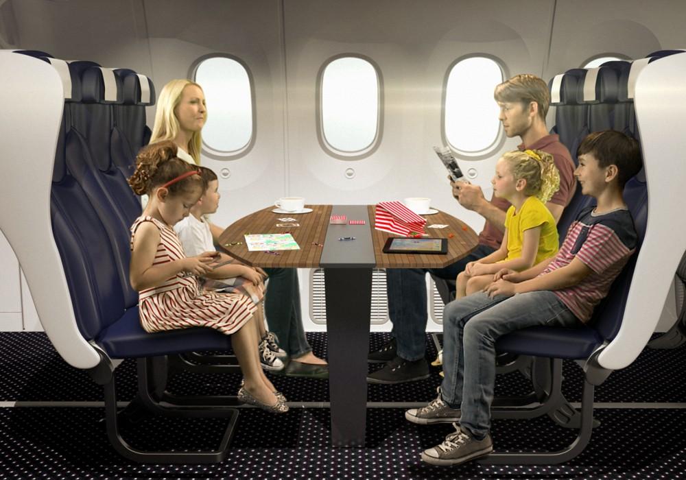 Companhia aérea desenvolve assentos para aproximar a família