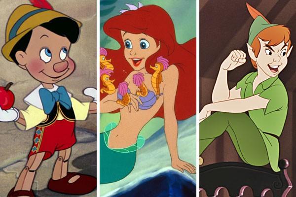 'Pinóquio' (1940), 'A Pequena Sereia' (1989) e 'Peter Pan' (1953) são algumas das animações que ganharão releituras live-action nos próximos anos (Foto: Reprodução)