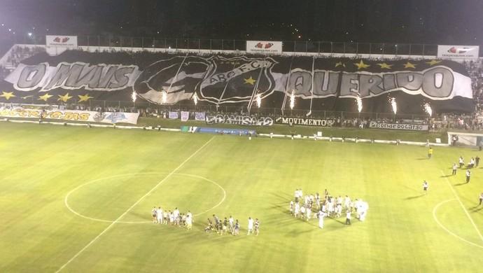 Torcida do ABC bandeirão (Foto: Carlos Henrique/CBN)