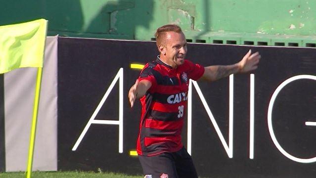 Zé Love gol Chapecoense x Vitória (Foto: Reprodução)