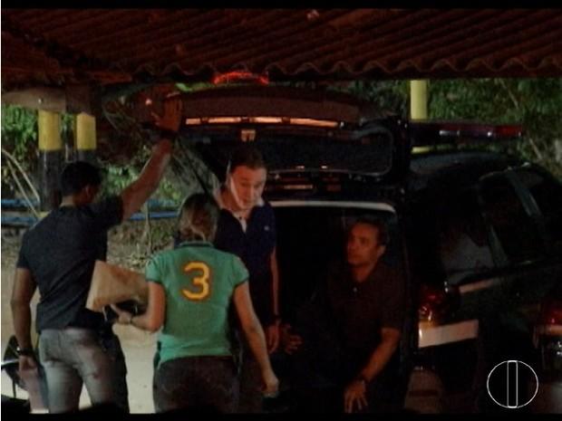 Lenardo Andrade e Cristiano Júnior foram presos em Montes Claros (Foto: Reprodução/Inter TV)