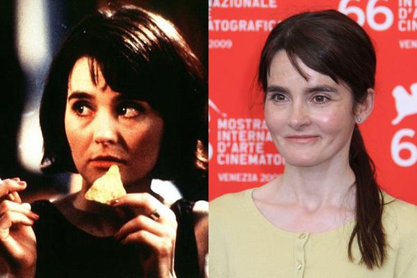 Shirley Henderson em 2001 e atulamente (Foto: Divulgação)