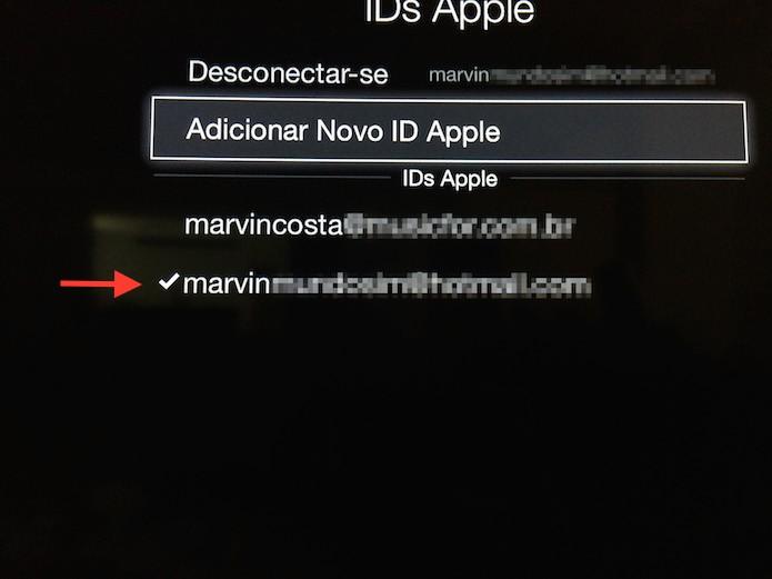 ID da Apple americana selecionada na Apple Store (Foto: Reprodução/Marvin Costa)