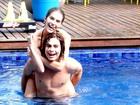 Perina na piscina! Rafa Vitti e Bella Santoni se divertem na Aquazen