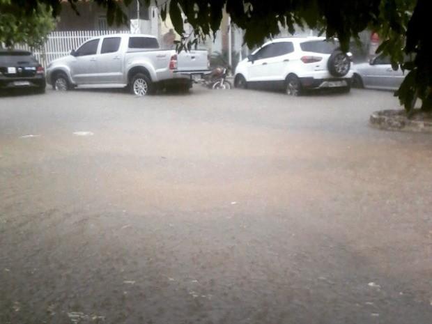 Chuva em Ecoporanga, no Espírito Santo (Foto: Erick Silva Ribeiro/ VC no G1)