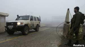 Fronteira entre Israel e Síria (Foto: Reuters)