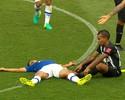 Após susto em queda, Henrique  elogia segundo tempo do Cruzeiro