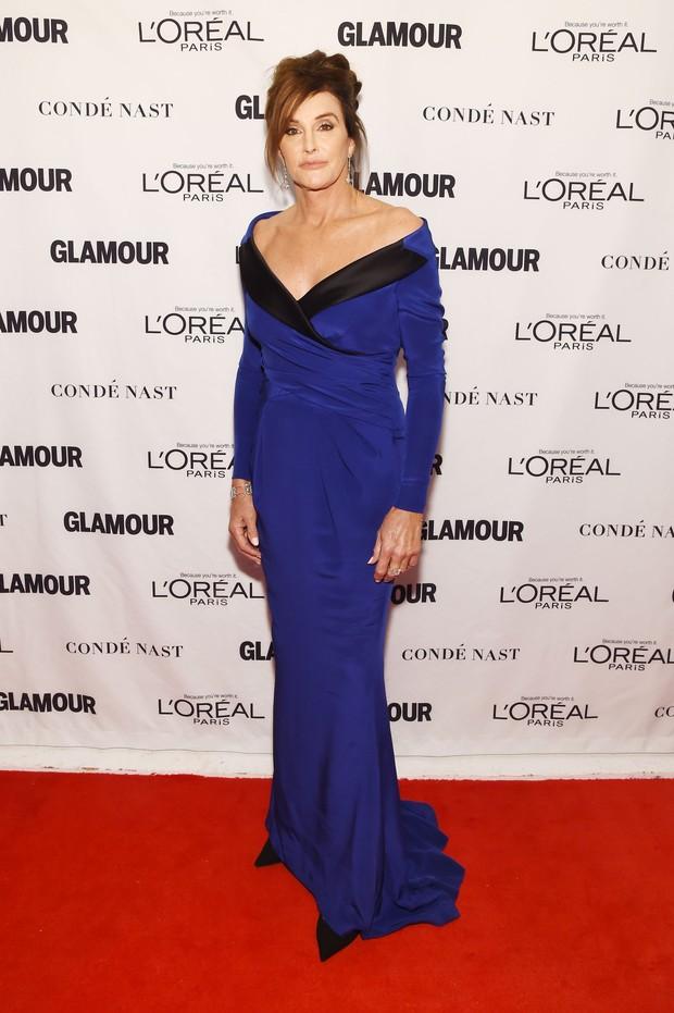 Caitlyn Jenner  em premiação em Nova York, nos Estados Unidos (Foto: Dimitrios Kambouris/ Getty Images/ AFP)