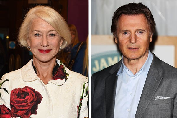 Helen Mirren e Liam Neeson (Foto: Getty Images)