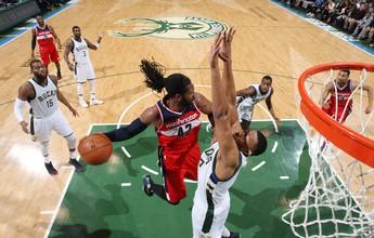 Nenê vai bem, mas Wizards caem para Bucks e veem playoffs mais longe