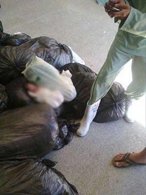Corpo foi encontrado por funcionários de lavanderia (Foto: Reprodução/TV Sergipe)