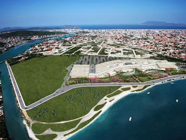 Área do Shopping Park Lagos, em Cabo Frio, RJ (Foto: Divulgação/Park Lagos)