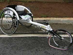 Bicicleta paratleta morto cadeirante (Foto: TV Globo)