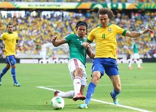 David Luiz jogo Brasil México (Foto: Getty Images)
