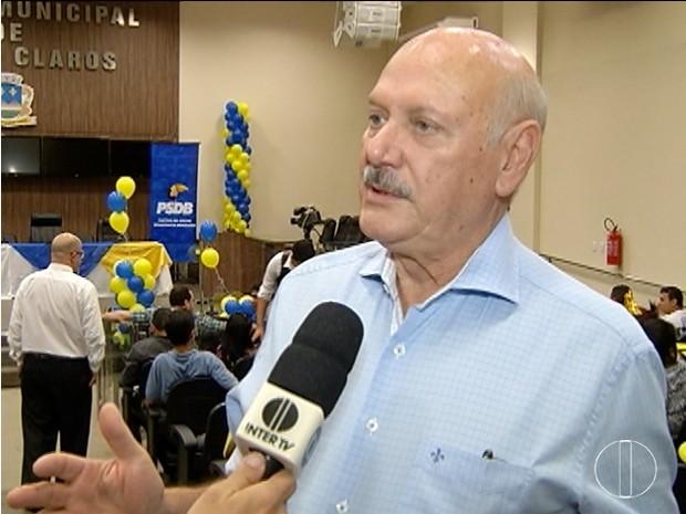 Jairo Ataíde (DEM) foi anunciado candidato em Montes Claros  (Foto: Reprodução/Inter TV)