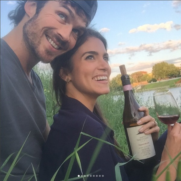 Nikki Reed e Ian Somerhalder (Foto: Reprodução/Instagram)