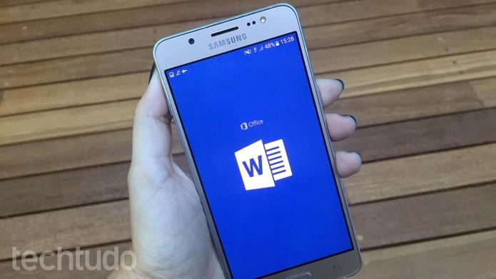 Veja como configurar um documento no Word para Android (Foto: Ana Marques/TechTudo)