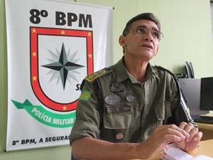 Major Costa Lima fala sobre a morte e tentativas de homicídios no bairro Dirceu (Foto: Catarina Costa/G1)