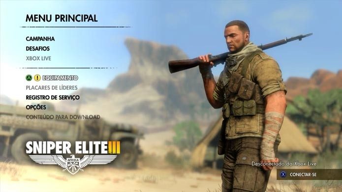 Sniper Elite 3: aprenda a customizar o seu arsenal no game (Foto: Reprodução/Murilo Molina)