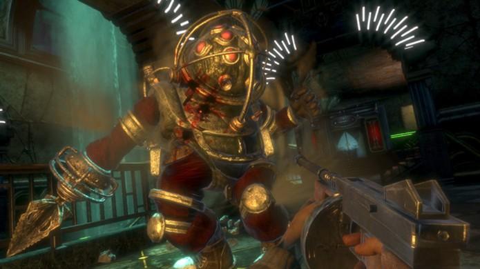 BioShock nos apresentou aos temidos Big Daddy que se tonaram o assustador rosto da franquia (Foto: Reprodução/Steam)