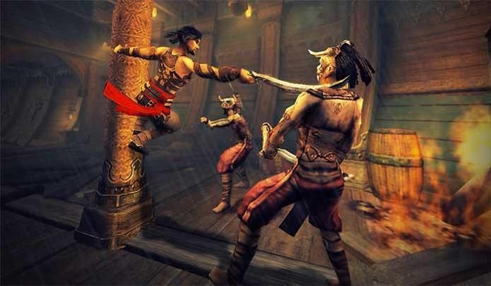 Prince of Persia com ação em Warrior Within (Foto: Divulgação/Ubisoft)