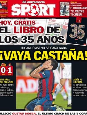 Capa Diário Sport Catalunha (Foto: Reprodução)