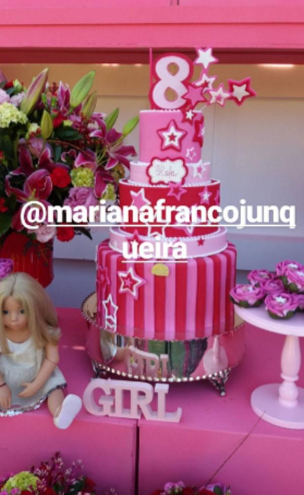Rafa Justus celebra 8 anos (Foto: Reprodução)