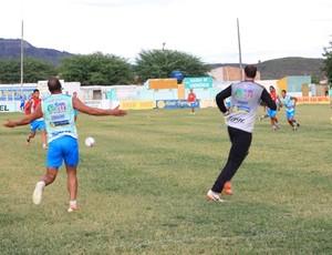 Aloísio Chulapa participou do treino em Santana na sexta (Foto: Ailton Cruz/ Gazeta de Alagoas)
