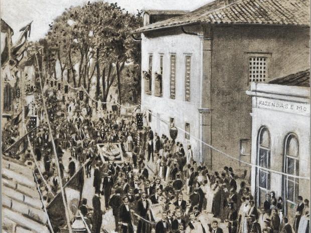 Funeral de Carlos Gomes  (Foto: Fotógrafo não identificado - Acervo MIS Campinas)