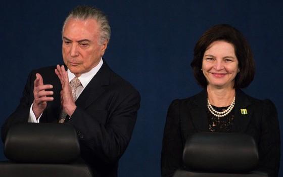 Michel Temer e Raquel Dodge (Foto: Marcelo Camargo/Agência Brasil)