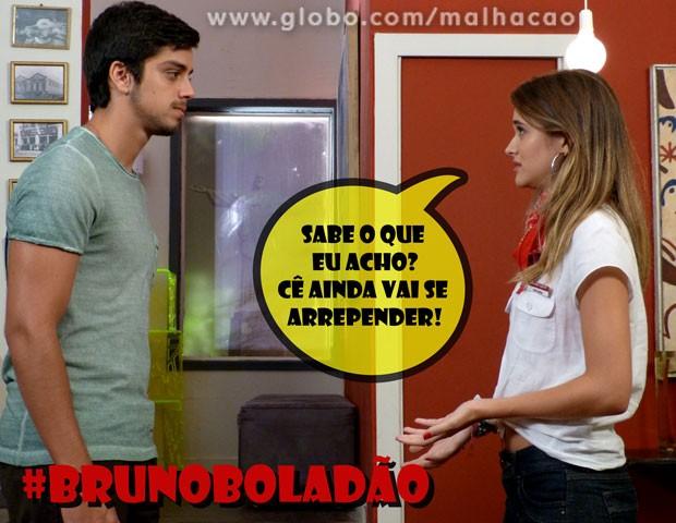 Shiiiiii... Será que o Bruno vai mesmo se arrepender? (Foto: Malhação / TV Globo)