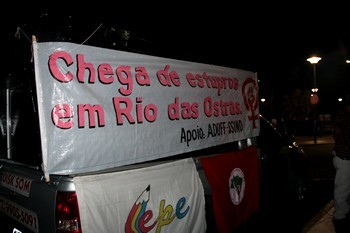 Movimentos pedem fim dos estupros (Foto: Mina Capone/ Arquivo Pessoal)