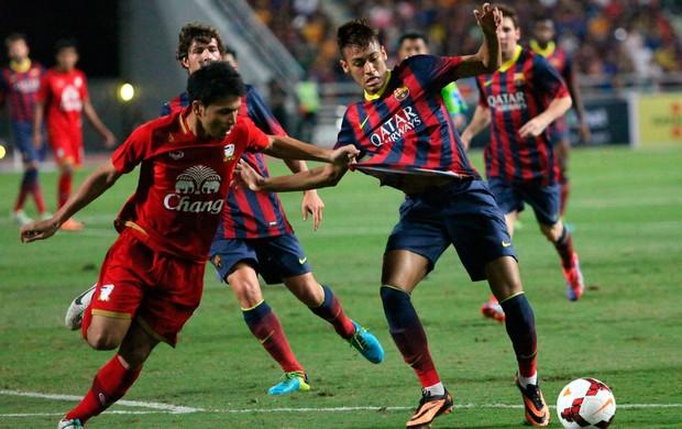 neymar barcelona x tailandia (Foto: Reuters)