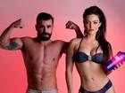 Laura Keller e Jorge Sousa faturam juntos e posam para ensaio fitness