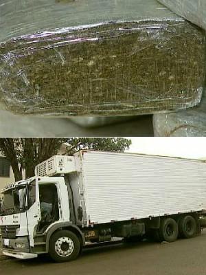 Motorista disse ter carregado caminhão com frangos em Marechal Rondon e com drogas em Foz (Foto: Reprodução/RPCTV Cascavel)