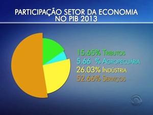 IBGE divulgou também participação dos setores da economia no PIB em SC (Foto: Reprodução/RBS TV)