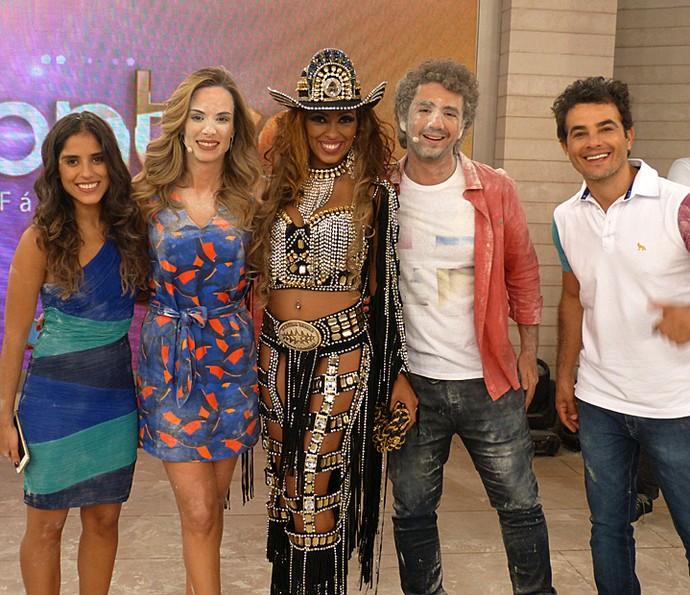 Mais um registro dos bastidores do programa  (Foto: Cristina Cople/Gshow)